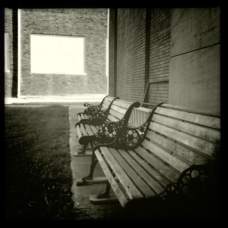 Benches outside